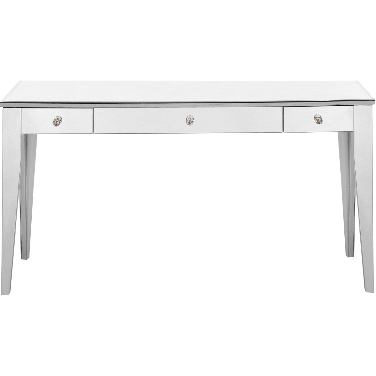 Contempo 54 X 30 3 Drawer Rectangle Table - Antique Silver Finish (Mf6-1030S) Rectangle Table