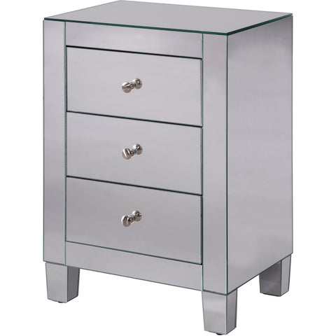Contempo 18 3 Drawer Cabinet - Clear Finish (Mf6-1032) Cabinet