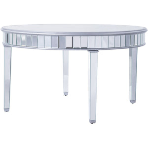 Contempo 60 X 30 Round Dining Table - Antique Silver Finish (Mf6-1037S) Dining Table