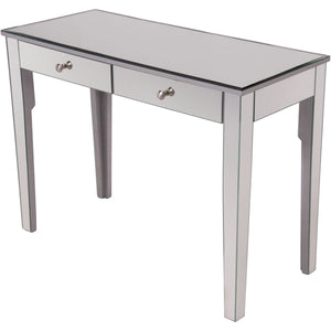 Contempo 42 X 31 2 Drawer Vanity Table - Antique Silver Finish (Mf6-1040S) Vanity