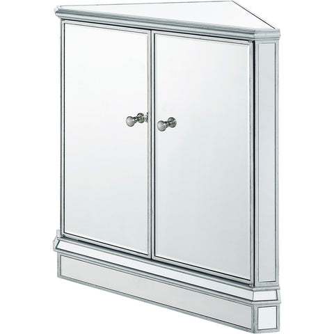 Contempo 31 X 32 1 Door Corner Cabinet - Antique Silver Finish (Mf6-1046S) Cabinet