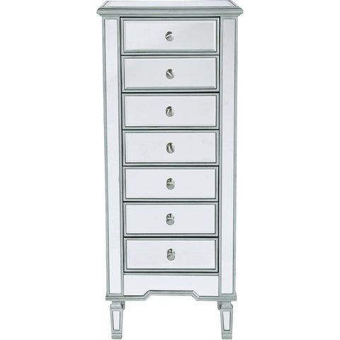Contempo 20 X 18 7 Drawer Lingerie Chest - Antique Silver Finish (Mf6-1047S) Chest