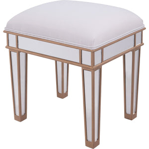 Contempo 18 Vanity Stool -Antique Gold Finish (Mf6-1107G) Vanity