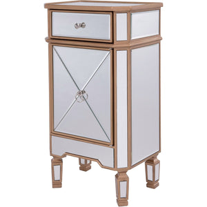 Contempo 18 X 32 1 Drawer 1 Door Cabinet -Antique Gold Finish (Mf6-1115G) Cabinet