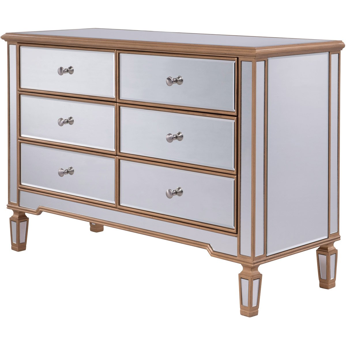 Contempo 48 X 32 6 Drawer Cabinet -Antique Gold Finish (Mf6-1117G) Cabinet
