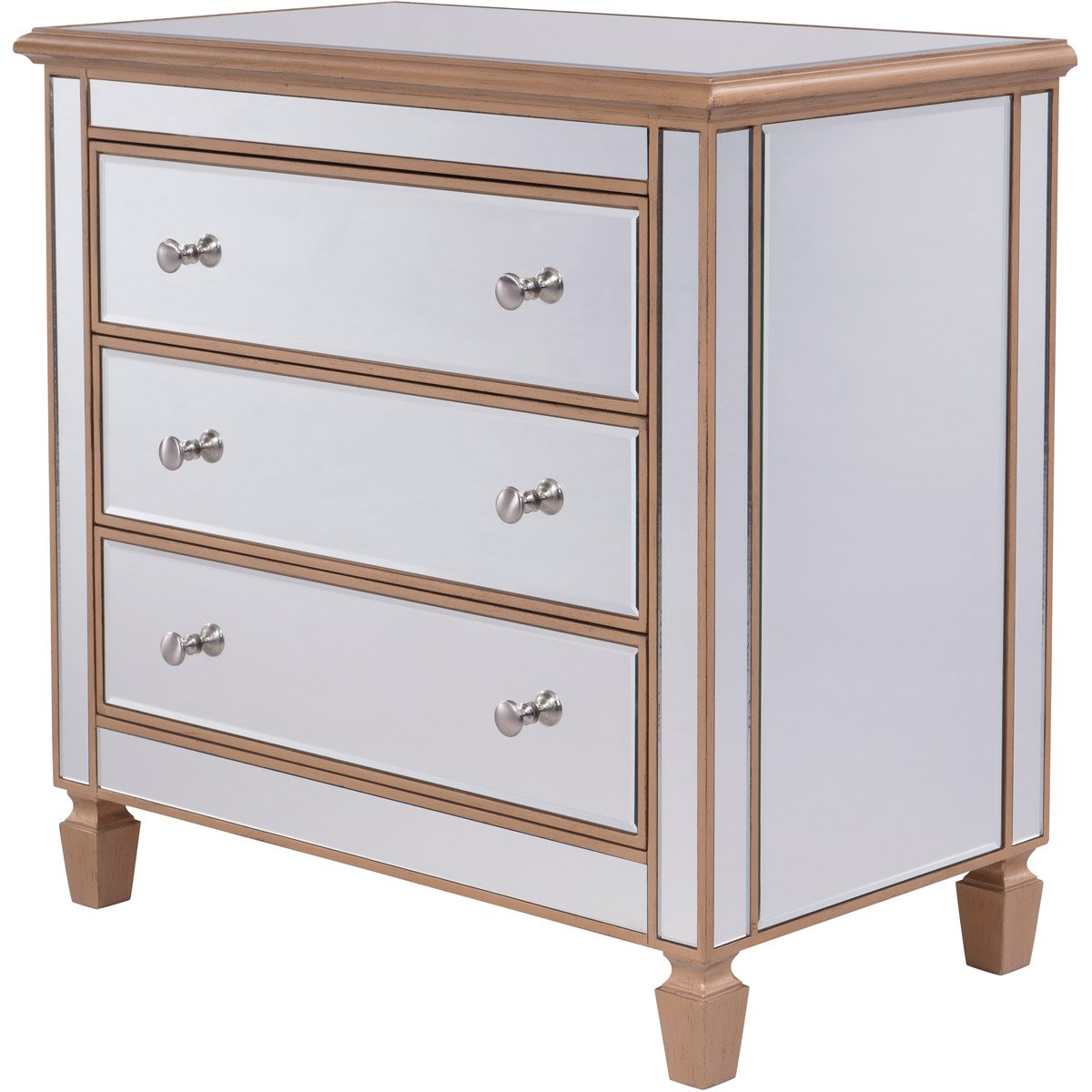 Contempo 33 X 32 3 Drawer Cabinet -Antique Gold Finish (Mf6-1119G) Cabinet