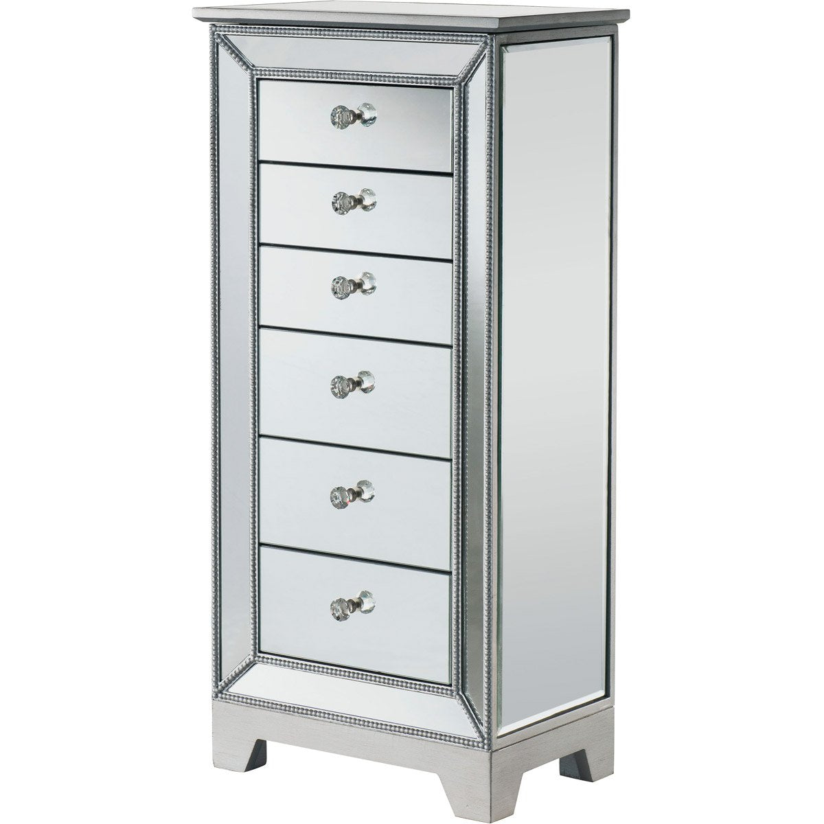 Reflexion 38 6 Drawer Jewelry Armoire - Antique Silver Finish (Mf72003) Armoire