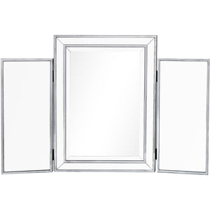 Reflexion 36 X 24 Tri-Fold Vanity Mirror - Antique Silver Finish (Mf72005) Vanity
