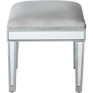Reflexion 18 Vanity Stool - Antique Silver Finish (Mf72007) Vanity