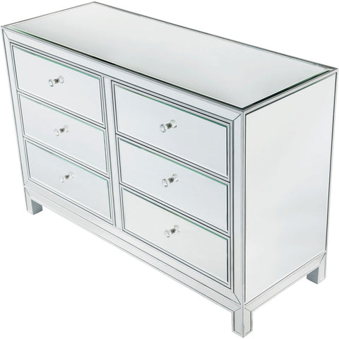 Reflexion 48 X 32 6 Drawer Dresser - Antique Silver Finish (Mf72017) Dresser