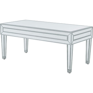 Reflexion 40 X 18 Coffee Table - Antique Silver Finish (Mf72022) Coffee Table