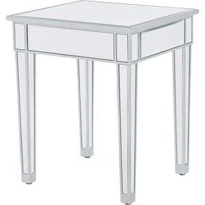 Reflexion 20 X 24 Side Table - Antique Silver Finish (Mf72023) Side Table