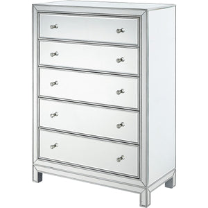 Reflexion 34 X 48 5 Drawer Chest - Antique Silver Finish (Mf72026) Chest