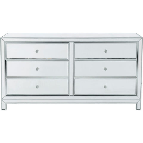 Reflexion 60 X 32 6 Drawer Dresser - Antique Silver Finish (Mf72036) Dresser