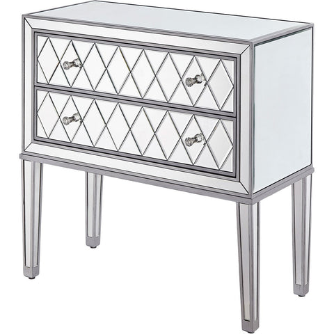 Reflexion 34 X 34 2 Drawer Chest - Antique Silver Finish (Mf72045) Chest