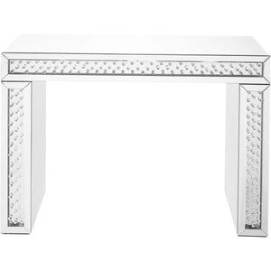 Sparkle 44 X 31 Clear Mirror And Crystal Console Table (Mf91001) Console Table
