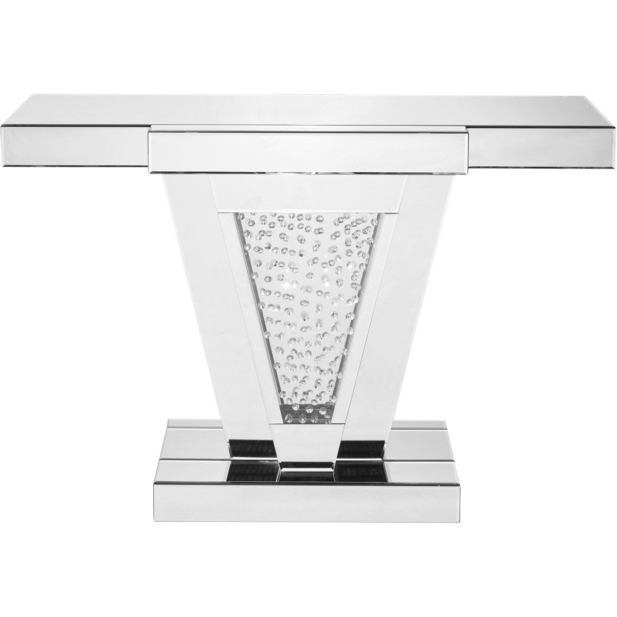 Sparkle 47X 32 Clear Mirror And Crystal Console Table (Mf91014) Console Table