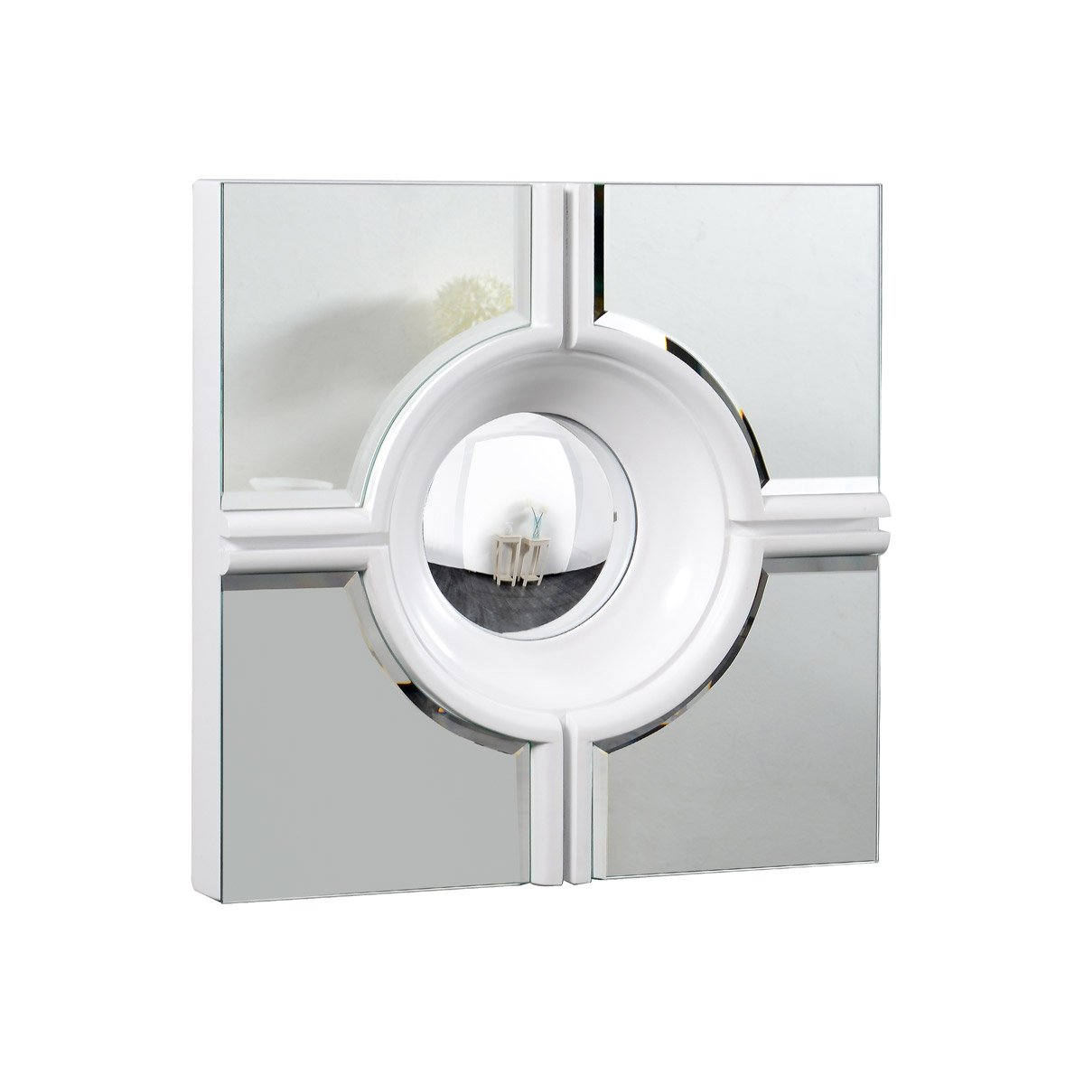 Modern 24 X 24 Contemporary Mirror - White Finish (Mr-3018W) Mirror