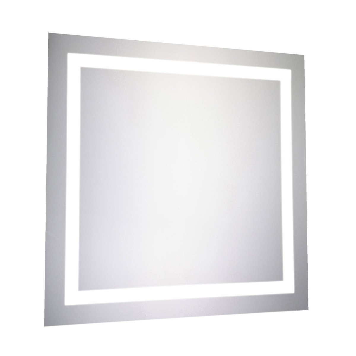 Nova 28 X 28 Hardwired Glossy White Led Wall Mirror (Mre-6010) Led Mirror