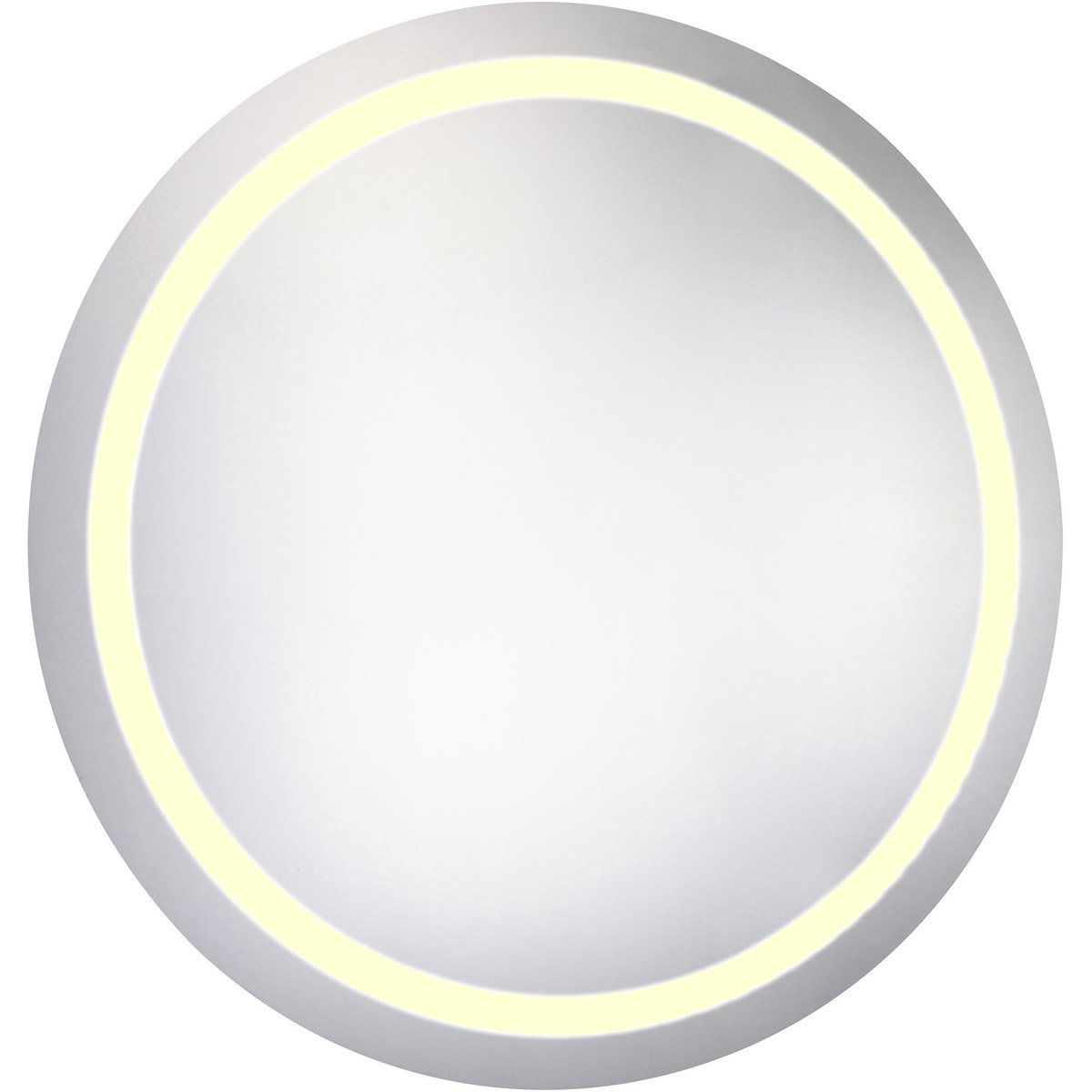 Nova 36 X 36 Hardwired Led Wall Mirror - Glossy White Finish (Mre-6016) Led Mirror