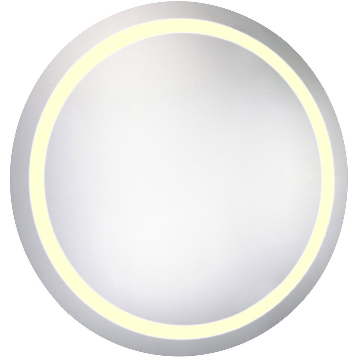 Nova 42 X 42 Hardwired Led Wall Mirror - Glossy White Finish (Mre-6017) Led Mirror