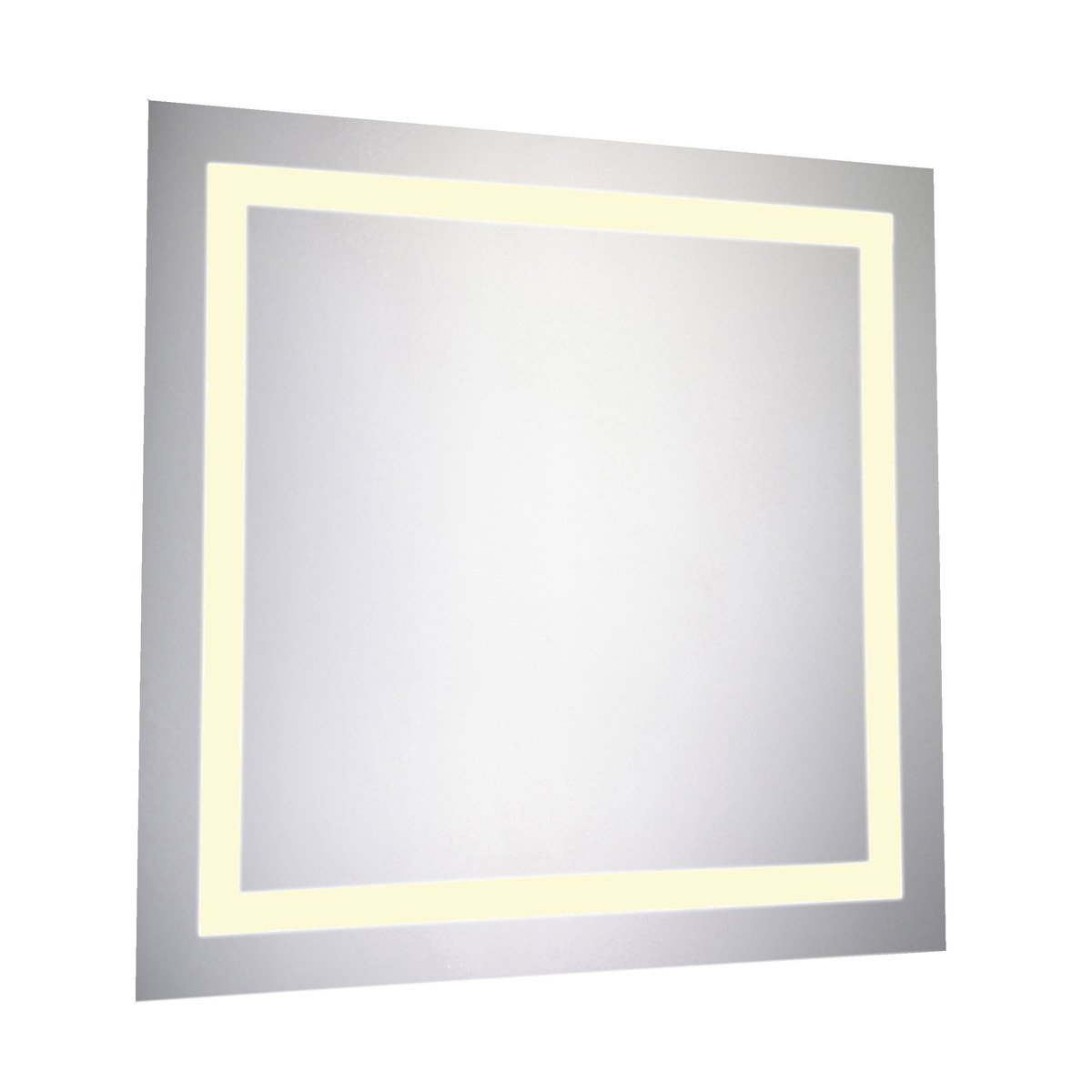 Nova 28 X 28 Hardwired Led Wall Mirror - Glossy White Finish (Mre-6020) Led Mirror