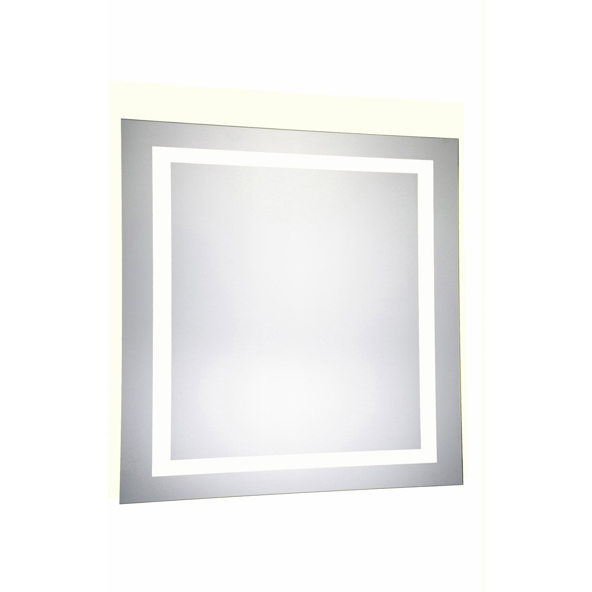 Nova 36 X 36 Hardwired Glossy White Led Wall Mirror (Mre-6030) Led Mirror