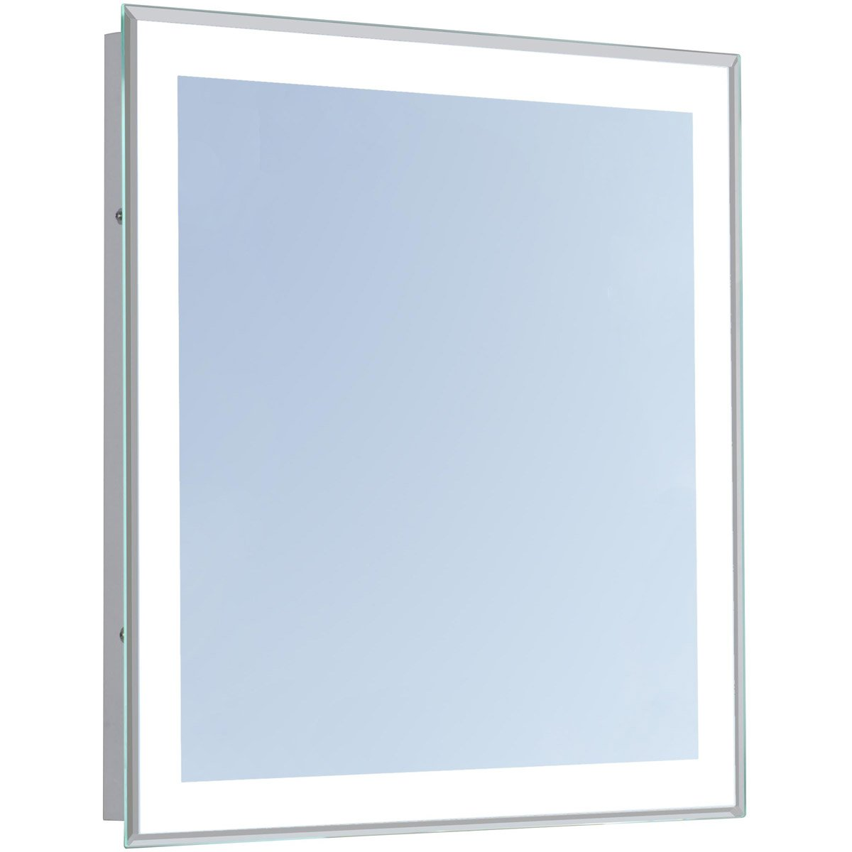 Nova 36 X 36 Hardwired Glossy White Led Wall Mirror (Mre-6109) Led Mirror