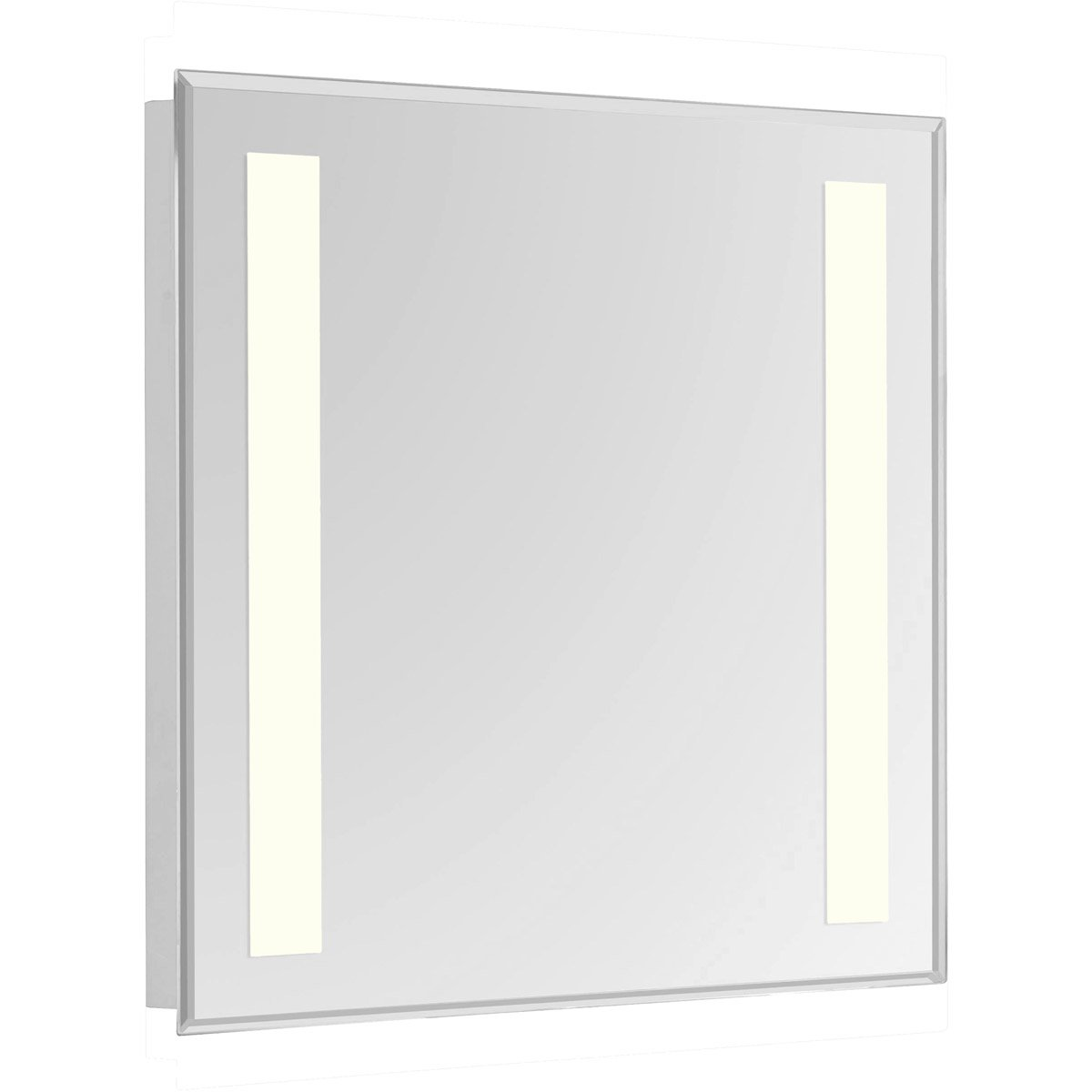Nova 40 X 32 Hardwired Glossy White Led Wall Mirror (Mre-6305) Led Mirror
