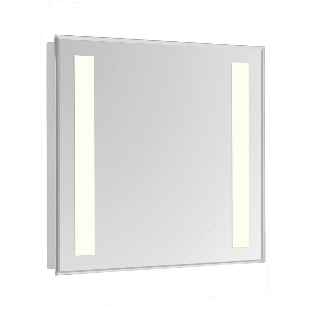 Nova 30 X 20 Hardwired Glossy White Led Wall Mirror (Mre-6311) Led Mirror