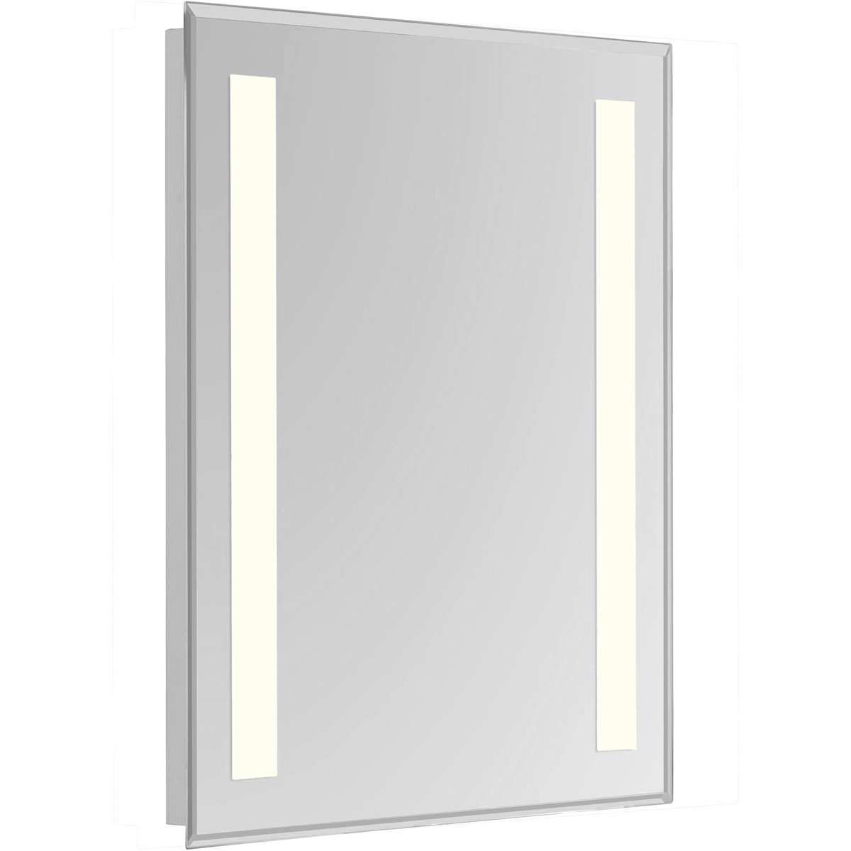 Nova 40 X 20 Hardwired Glossy White Led Wall Mirror (Mre-6312) Led Mirror