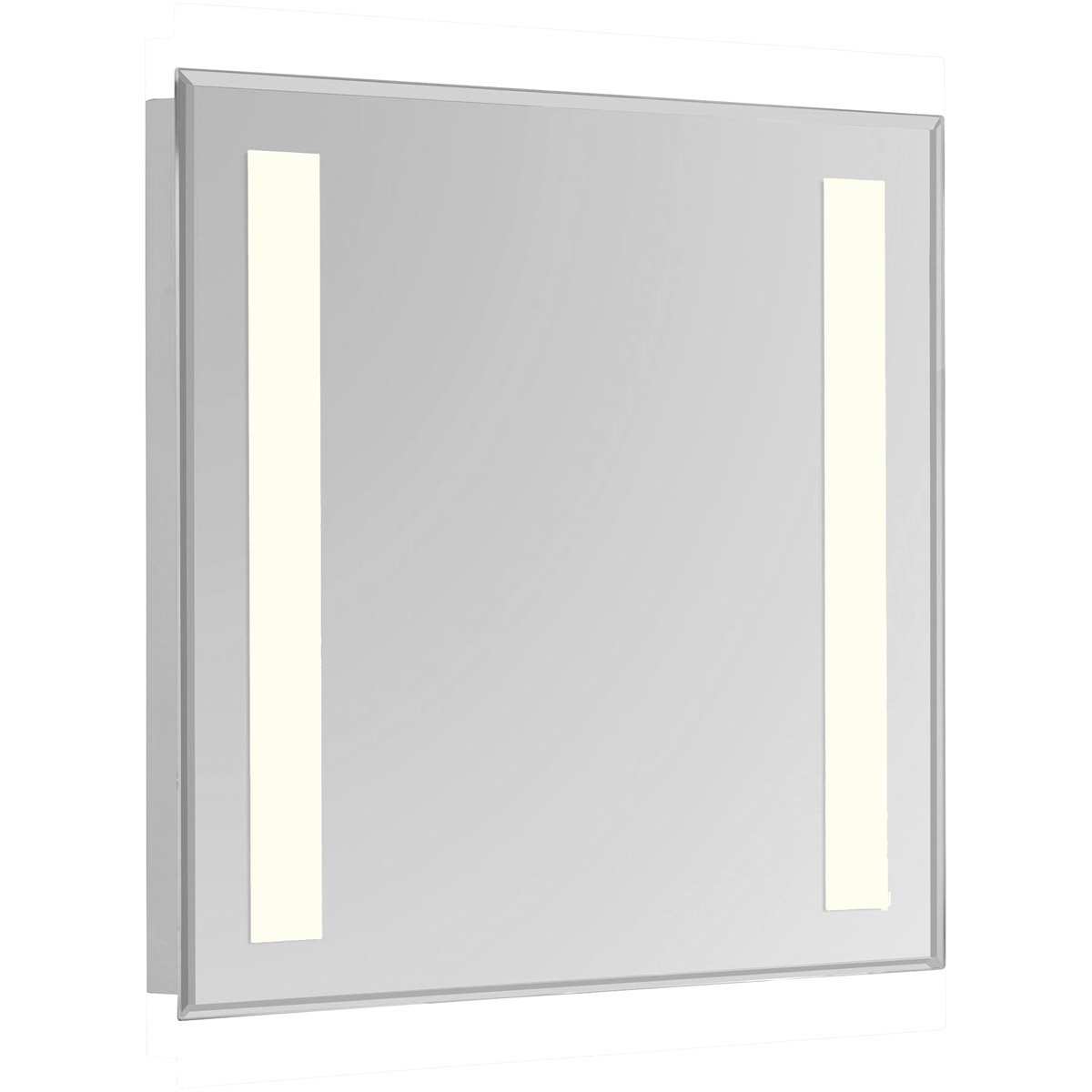 Nova 30 X 24 Hardwired Glossy White Led Wall Mirror (Mre-6313) Led Mirror