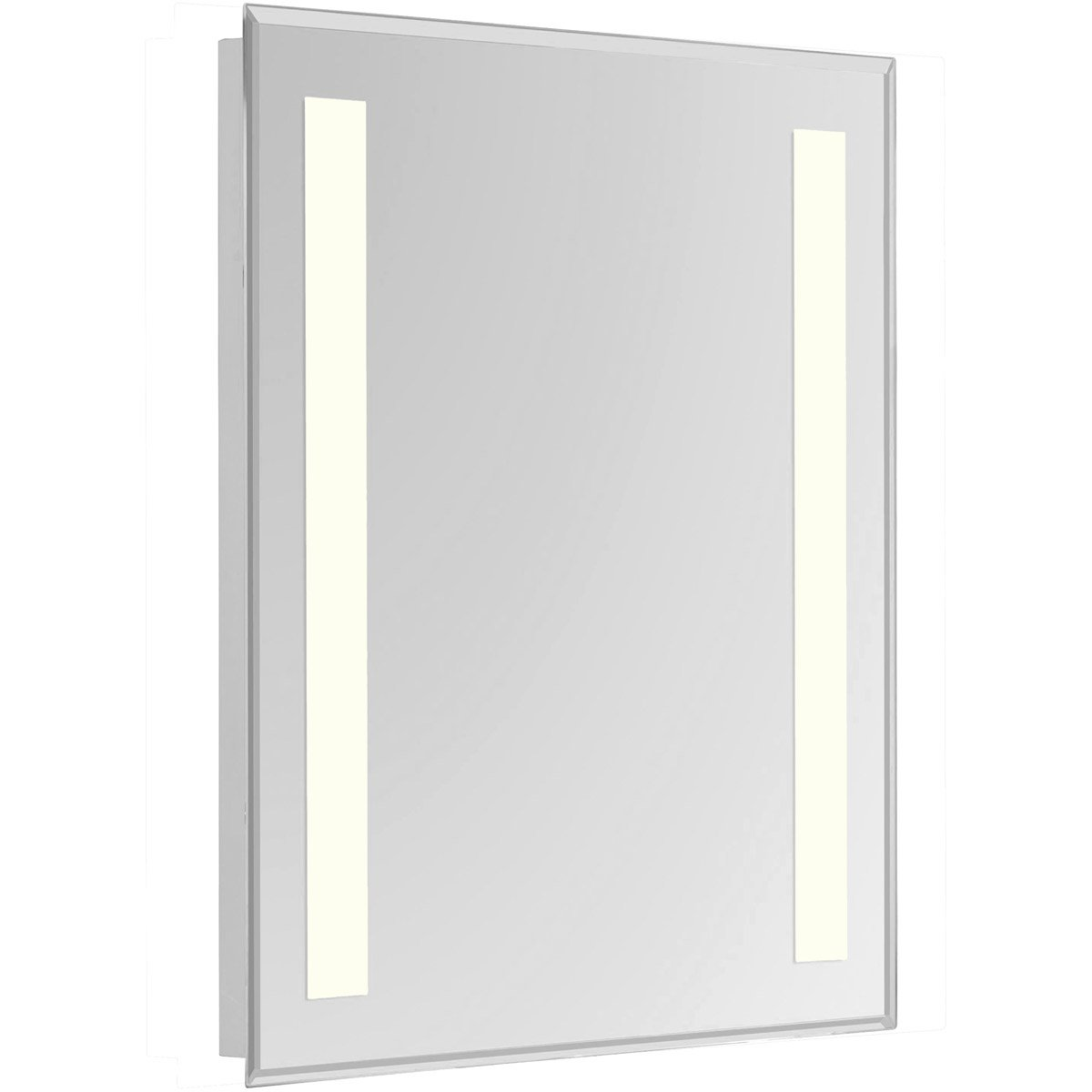 Nova 40 X 24 Hardwired Glossy White Led Wall Mirror (Mre-6314) Led Mirror