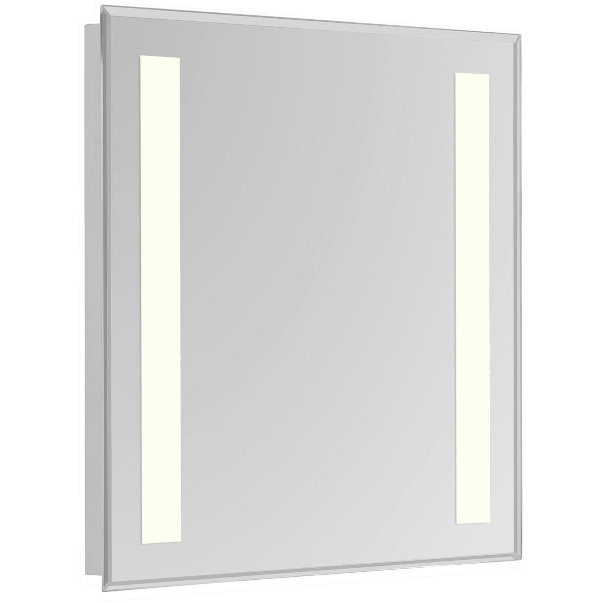 Nova 40 X 32 Hardwired Glossy White Led Wall Mirror (Mre-6315) Led Mirror