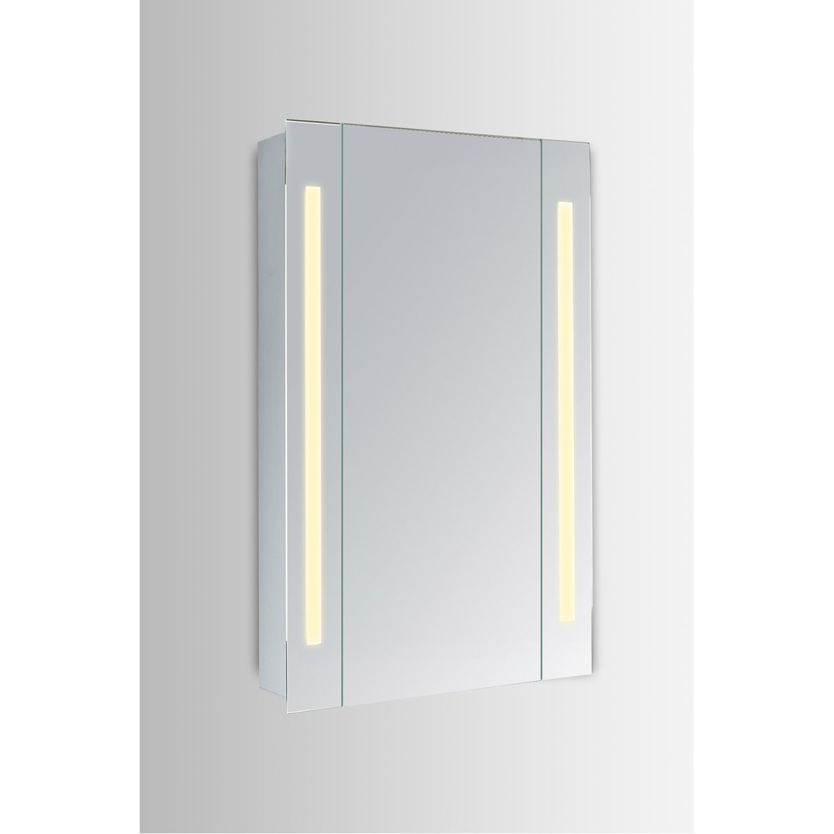 Elixir 27.5 X 19.5 Led Mirror Cabinet - Silver Finish (Mre8002) Led Cabinet