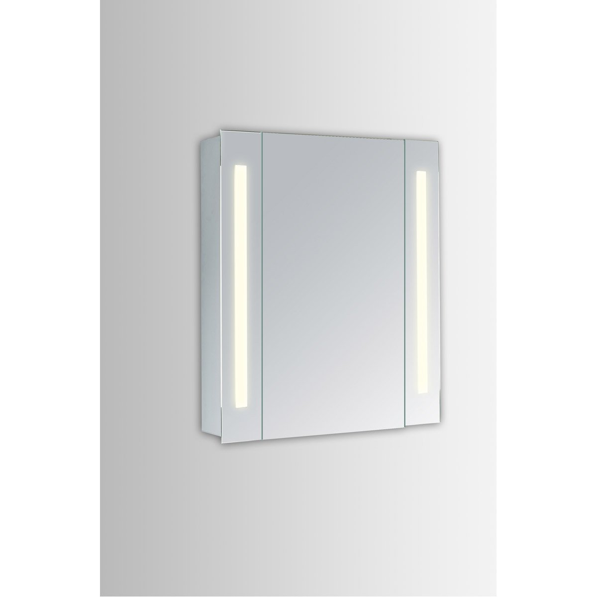 Elixir 39.5 X 23.5 Led Mirror Cabinet - Silver Finish (Mre8011) Led Cabinet