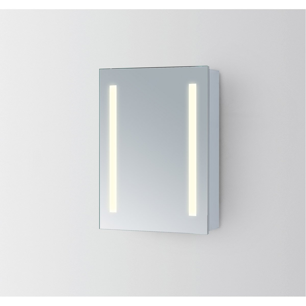 Elixir 27.5 X 19.5 Led Mirror Cabinet - Silver Finish (Mre8013) Led Cabinet