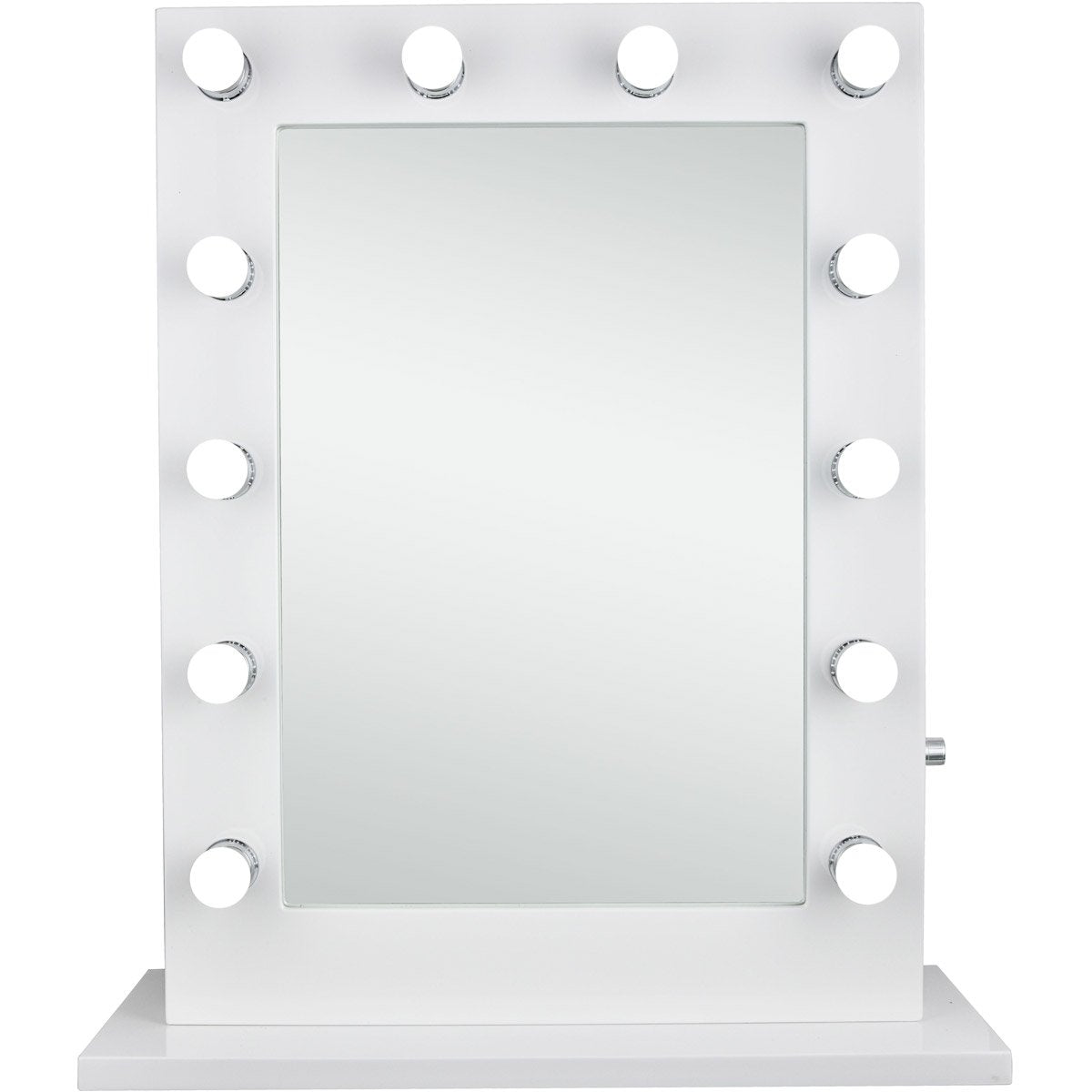Hollywood 32.5 X 27.5 Led Mirror - Glossy White Finish (Mre8505K) Led Mirror
