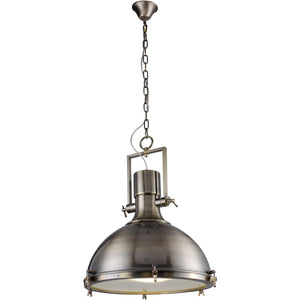 Industrial 22 Pendant With 1 Light - Antique Brass Finish Pendant