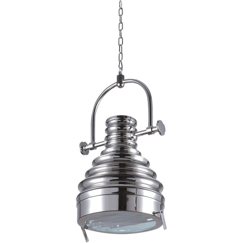 Industrial 16 Pendant With 1 Light - Brushed Nickel Finish Pendant