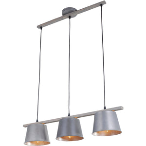 Industrial 8 Antique Pendant With 4 Lights - Antique Finish With - Finish Pendant