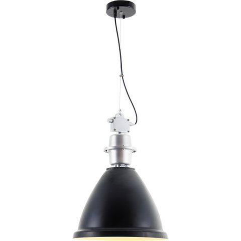 Industrial 14 Pendant With 1 Light - Black Finish Pendant