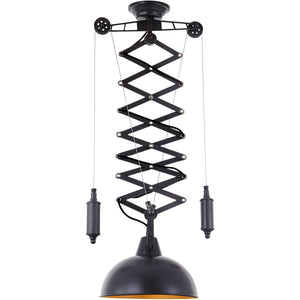 Industrial 16 Pendant With 1 Light - Charcoal Gray Finish Pendant