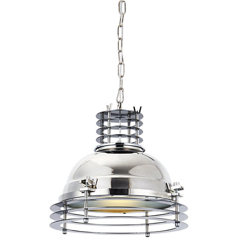 Industrial 16 Pendant With 1 Light - Chrome Finish Pendant