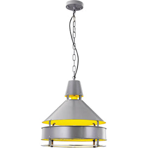 Industrial 16 Pendant With 1 Light - Grey Finish Pendant