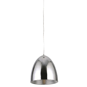 Industrial 8 Pendant With 1 Light - Chrome Finish Pendant