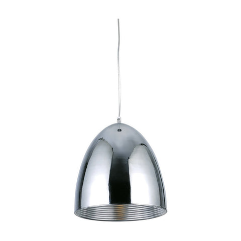 Industrial 12 Pendant With 1 Light - Chrome Finish Pendant