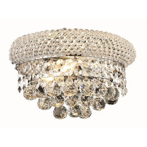 Primo 12 Crystal Wall Sconce With 2 Lights - Chrome Finish And Swarovski Elements Crystal Wall Sconce