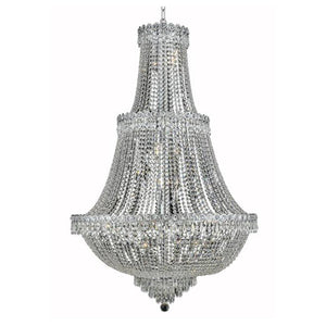 Century 30 Crystal Chandelier With 17 Lights - Chrome Finish And Swarovski Elements Crystal Chandelier