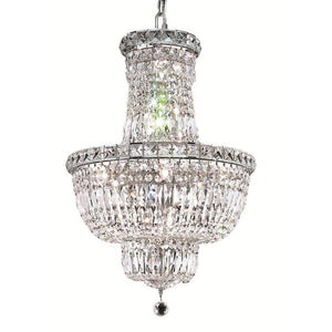 Tranquil 18 Crystal Mini Chandelier With 12 Lights - Chrome Finish And Swarovski Elements Crystal Chandelier